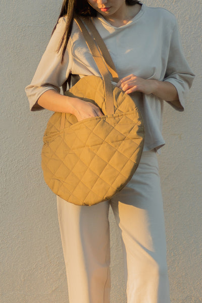 The Quilted Large Circle Tote