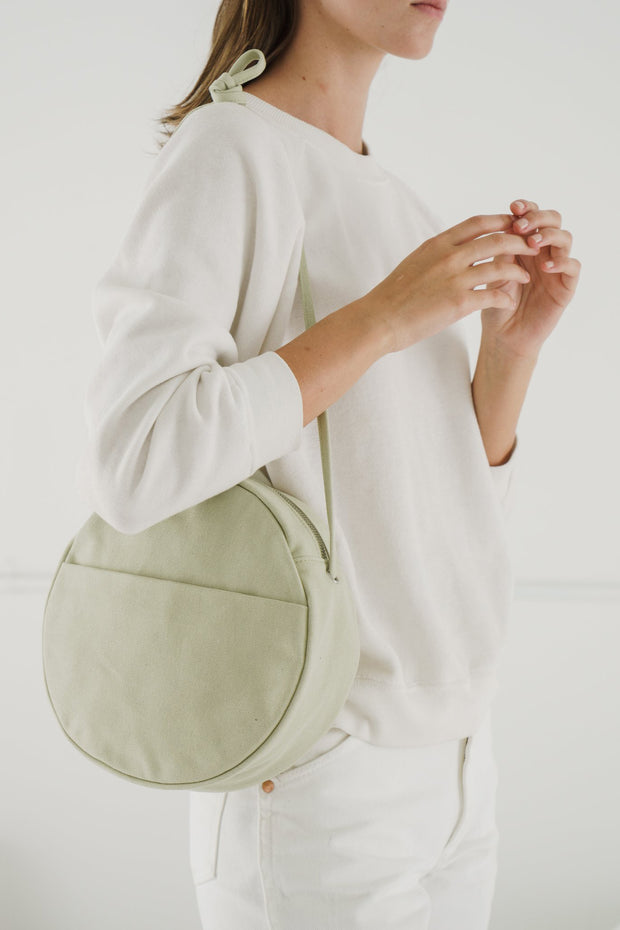 Medium Canvas Circle Purse