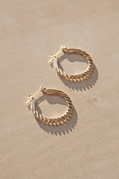 The Sally 14K Plated Hoops