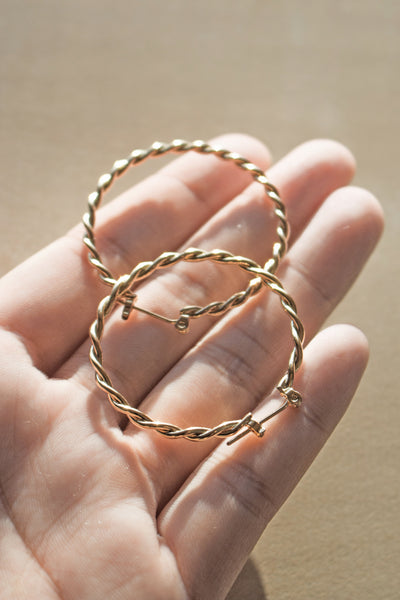 The Athena 14K Plated Hoops