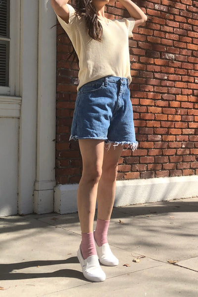 Vintage Knit V-Neck Top