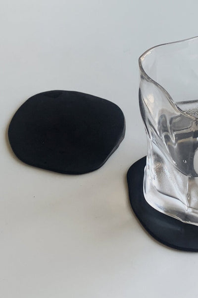 Clay Coaster Set of 2 - Black