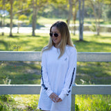 Pocket Script Long Sleeve White