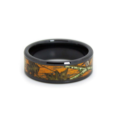 Hunter Orange Camo Wedding Ring