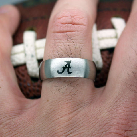College Wedding Band - CUSTOM Officially Licensed Collegiate Rings