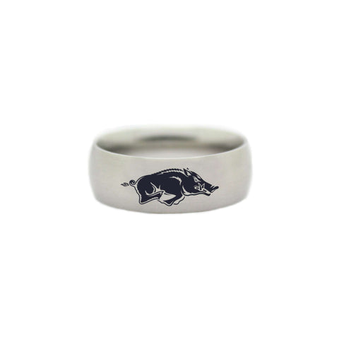 Arkansas Razorbacks College Wedding Band - University of Arkansas Jewelry