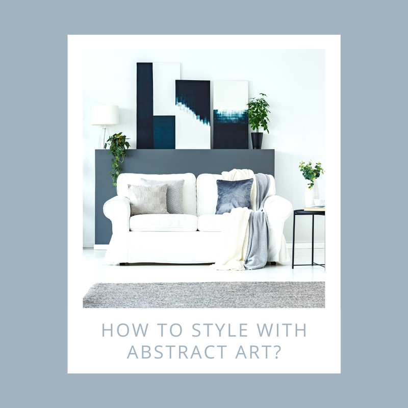 How to style with abstract art?