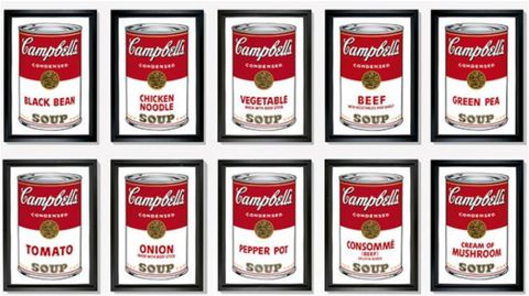 Campbell Soup Cans(1962) by Andy Warhol