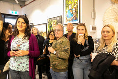 Opening celebration at THE SPACE gallery