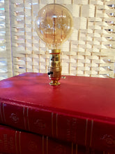 Unusual Vintage Style Red Stacked Books Table Lamp