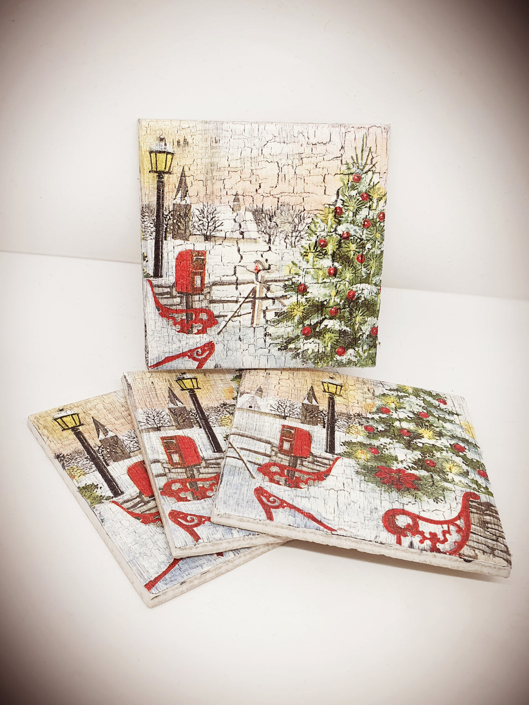 Vintage Style Christmas Coasters Workshop