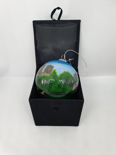 Durham City Skyline Glass Bauble