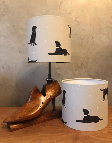 Black Labrador Dog Lampshade