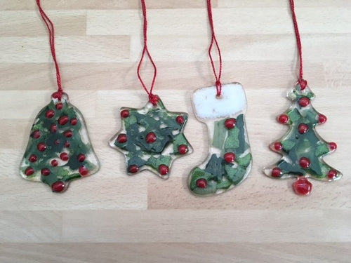 From Loft to Loved - Christmas workshops - fused glass workshop - learn a new skill - crafting - christmas decorations - make your own - things to do in Sedgefield County Durham - new skill