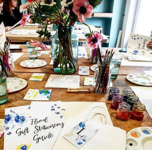 Floral painting Gift Stationary Workshop