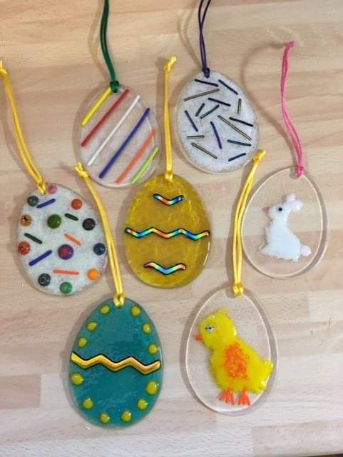 From Loft to Loved- workshops - Make your own - fused glass workshop -  easter egg decoration- upcycle - things to do - sedgefield - county Durham- north east - new skills - fun things to do - gift idea - mothers day