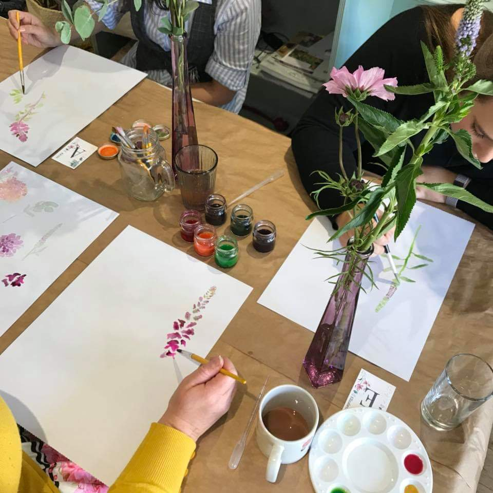 From Loft to Loved- workshops - Make your own - floral painting- learn a new skill- things to do county durham - Sedgefield- painting - flowers - nature - creative