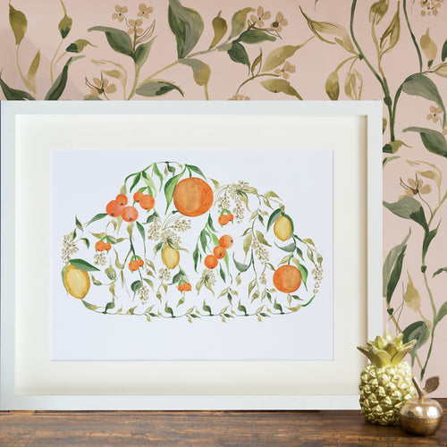 Fruity Cloud A4 Print