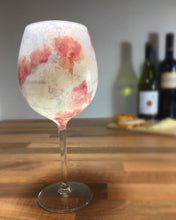Pink Floral and Grey Paris Long Stemmed Wine Glass