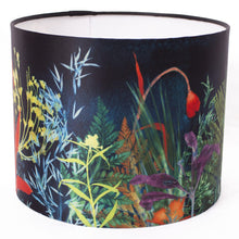 From Loft to loved - Gillian Arnold - drum shade for ceiling or table lamp - Sedgefield, County Durham - Secret Garden - dark floral