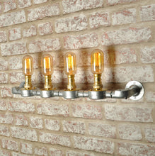 Industrial steampunk vintage style steel 4 way lighting - wall light - indoor use - home - business - living room - dining room -