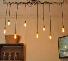 Industrial steampunk vintage style multi pipe ceiling light - home - kitchen - dining room - living room - 4 way - 6 way - 8 way