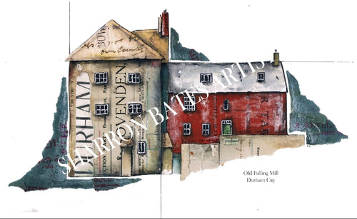 The Old Fulling Mill Durham A4 Print