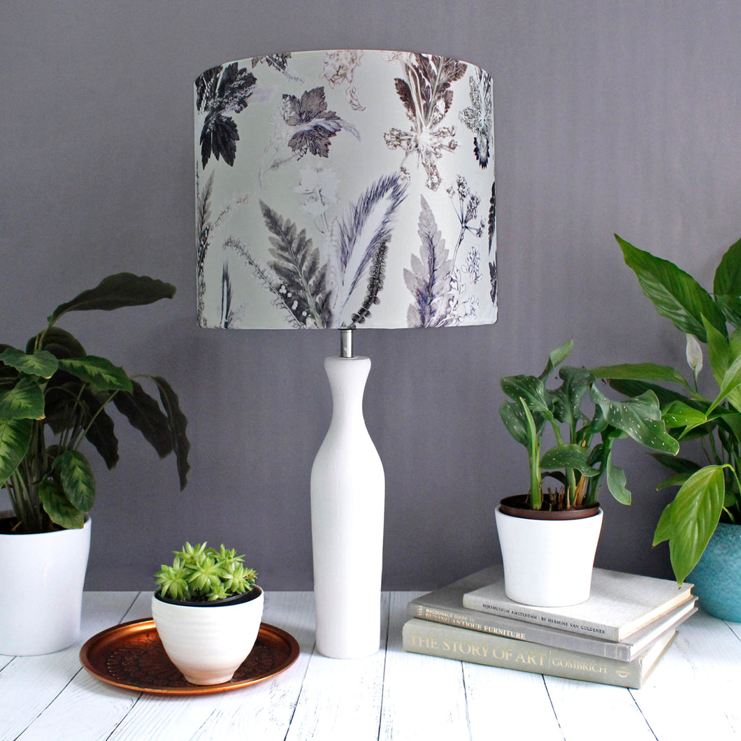 Winter Flourish Drum Lampshade
