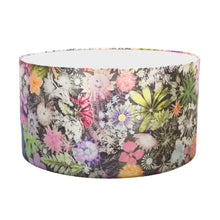 From Loft to loved - Gillian Arnold - drum shade for ceiling or table lamp - Sedgefield, County Durham - Cascades of colour - green and pink floral