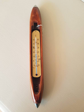 Unique Thermometer within a reclaimed flying shuttle frame