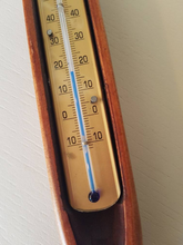 From Loft to Loved - Unique Thermometer within a reclaimed flying shuttle frame - decorative house gift - kitchen and living - garden gift - wooden - antique