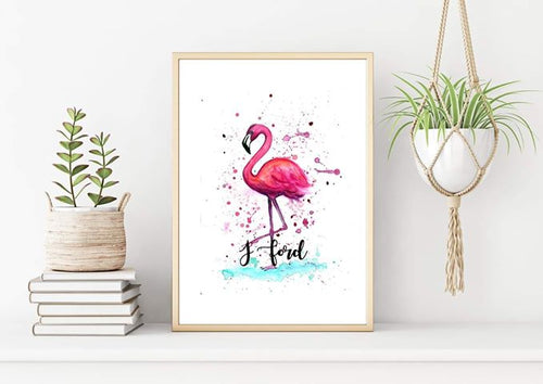 Flamingo Watercolour Print