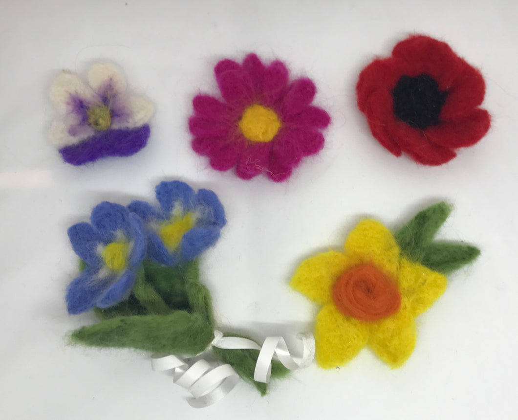 Beginners Needle-felting Workshop - Flowers