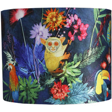 From Loft to loved - Gillian Arnold - drum shade for ceiling or table lamp - Sedgefield, County Durham - jungle surprise - tropical animals