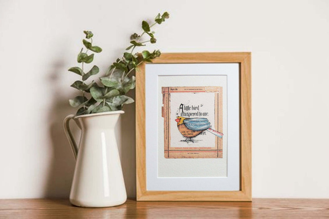 A Little Bird Whispered To Me A4 Print