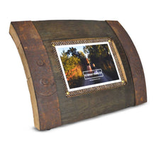 Whiskey photo frame made from reclaimed barrels with original Harris tweed - gift - Scotland- from loft to loved - home - wedding gift