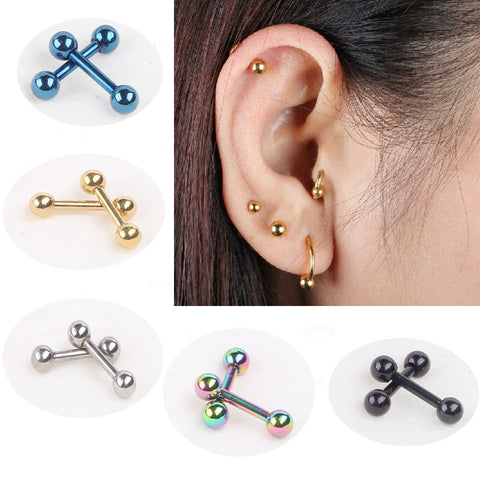 Nail Bone Barbell Earring Piercing Helix Ear Stud Tragus For Men Women - Jack and Rose Fabulous Finds - JARFF