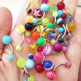Mixed Color Fashion Navel 8mm Belly Button Tongue Bar Rings 50/30Pcs - Jack and Rose Fabulous Finds - JARFF