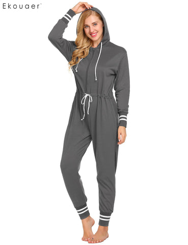 Ekouaer Thickened Casual Soft Pajamas Loungewear Women Sleepwear - Jack and Rose Fabulous Finds - JARFF
