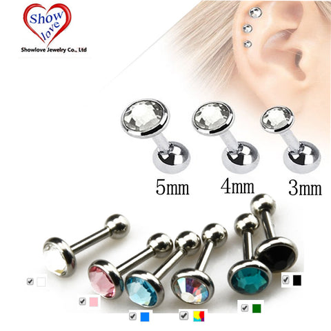 Ear Piercing Lip Body Helix Tragus Lobe Barbell Bar Earrings Ear Studs - Jack and Rose Fabulous Finds - JARFF