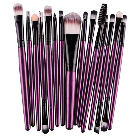 Eye Shadow Foundation Eyebrow Lip 15 pcs 1 Sets Brush - Jack and Rose Fabulous Finds - JARFF