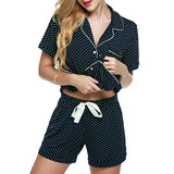 Ekouaer Two-pieces Pajamas Sets Spring Summer Cotton Women Pajama Top - Jack and Rose Fabulous Finds - JARFF