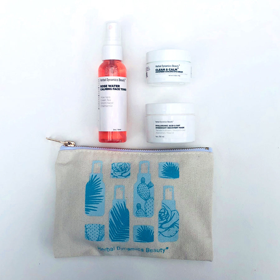 Take Flight Herbal Dynamics Beauty Travel Skincare Essentials Set