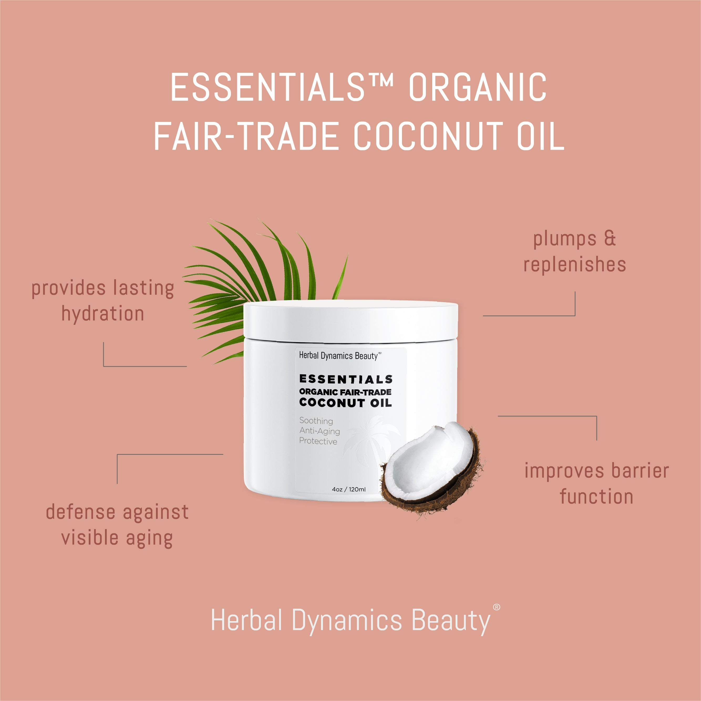Essentials™ Organic Fair-Trade Coconut Oil