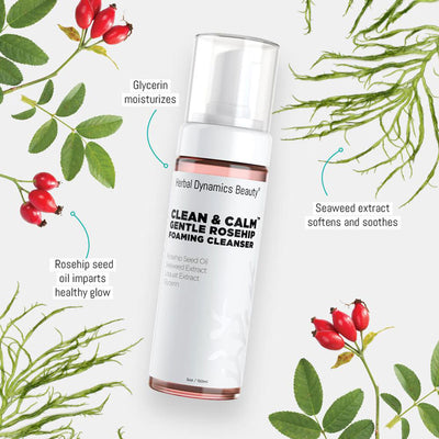 Clean & Calm® Gentle Rosehip Foaming Cleanser