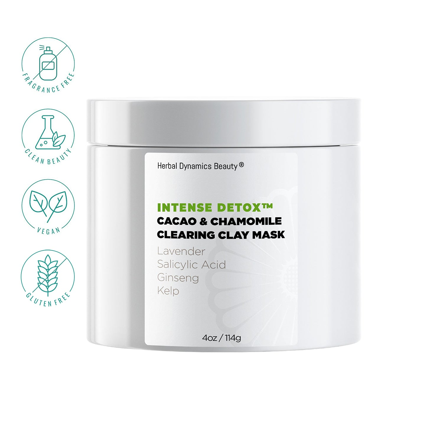 Herbal Dynamics Beauty® Intense Detox® Cacao & Chamomile Clearing Clay Mask
