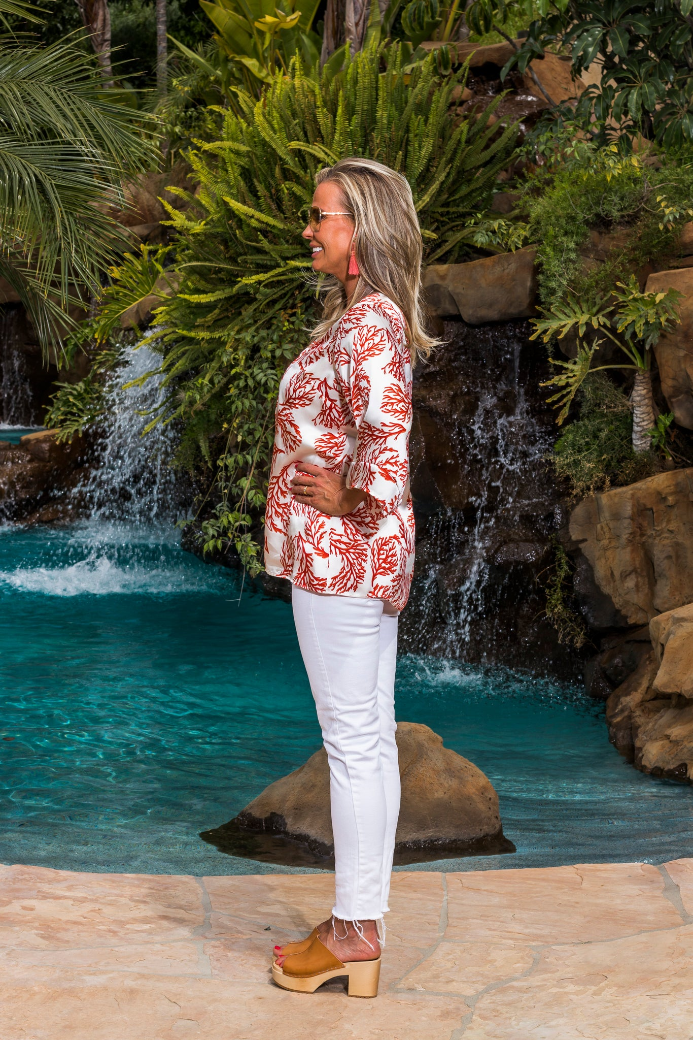 Ice Cube Tunic - Coral