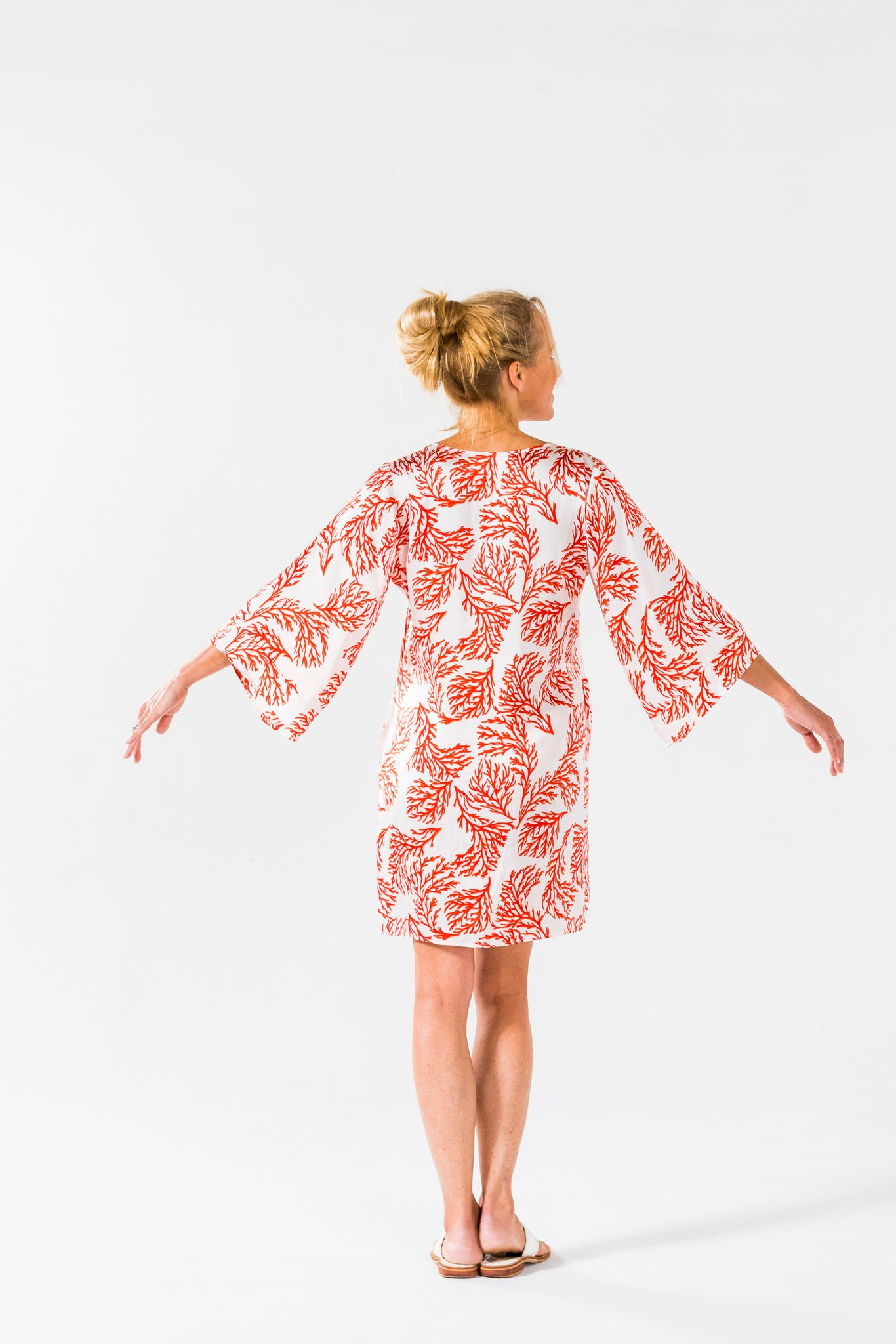 Ice Cube Dress -Coral