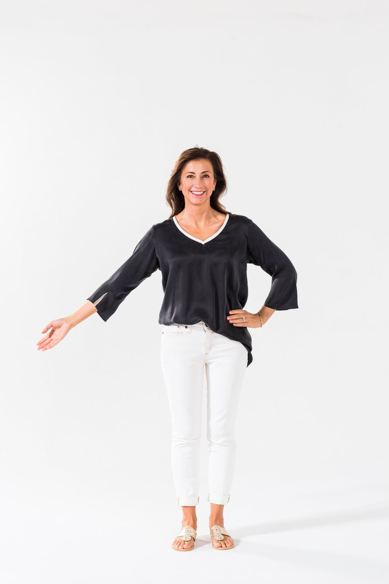 Simple Tunic - black & white