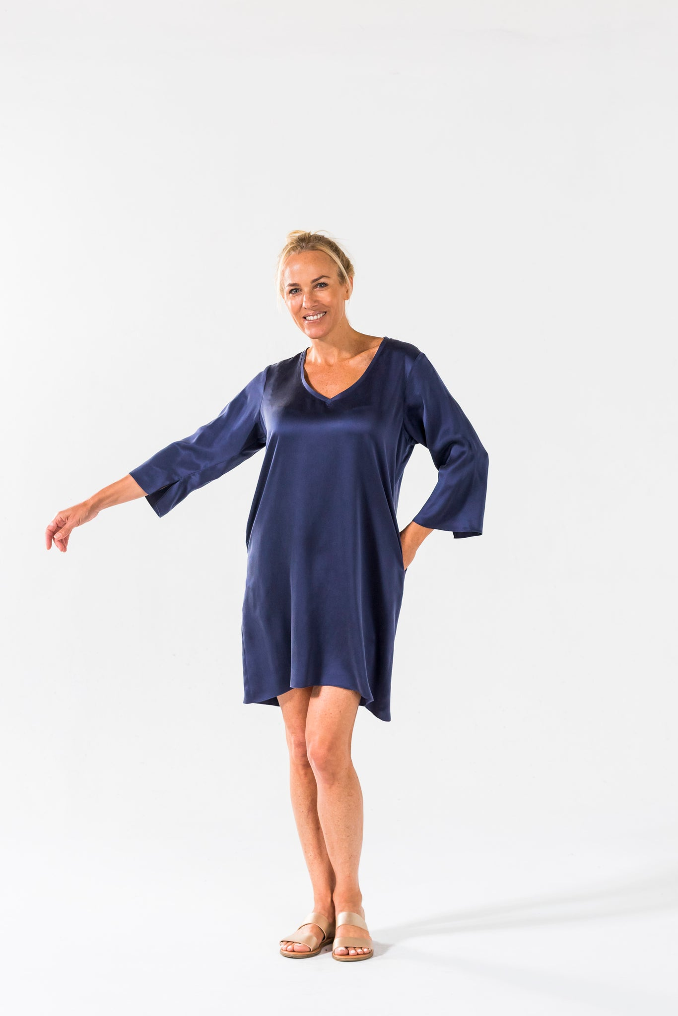 Simple Dress - Navy